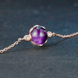 Amethyst & Rose Gold Plated Bracelet 101500